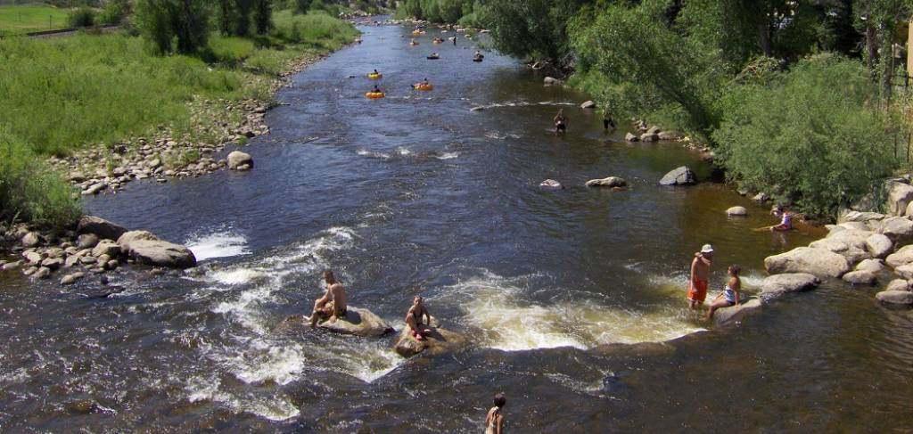 Tubing the Yampa River, Steamboat Springs CO